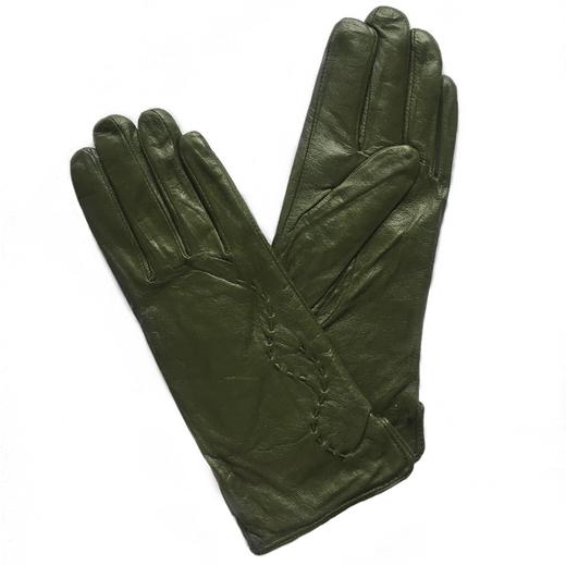 Перчатки кожаные Зеленые