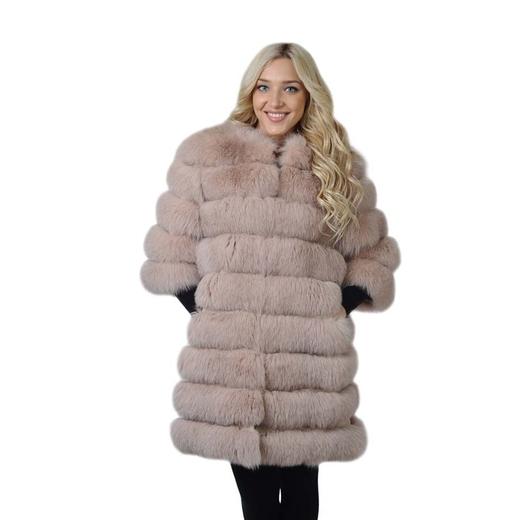 Меховое пальто из песца Виталина