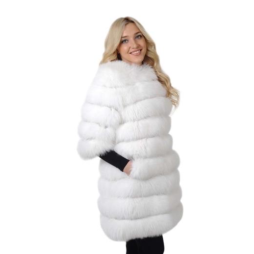 Меховое пальто из песца Жасмин